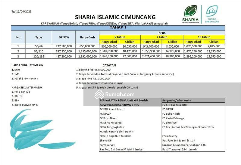 sebelum harga naik dapatkan segera hunian islami dua lantai 5,2 km ke gedung sate #105212867