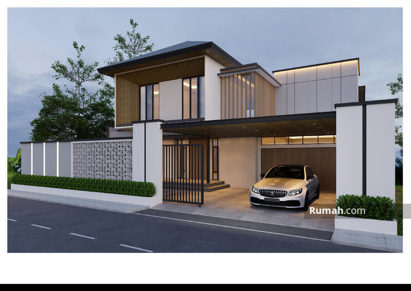 Dijual Rumah 2 Lt Modern Tropis di Soekarno Hatta #105220489