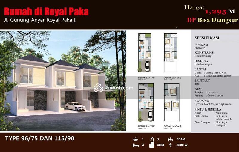 Rumah baru 2 lantai Royal Paka Gunung Anyar Surabaya #105229031