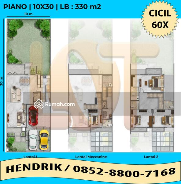 RUMAH 10X30 TIPE PIANO PIK 2 BUKIT DANAU INDAH CICIL 60X #105230535