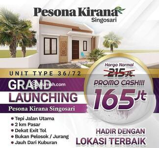Dijual - Rumah Dijual di Malang Harga Dibawah 200 Juta Lokasi Strategis Pinggir Jalan Raya