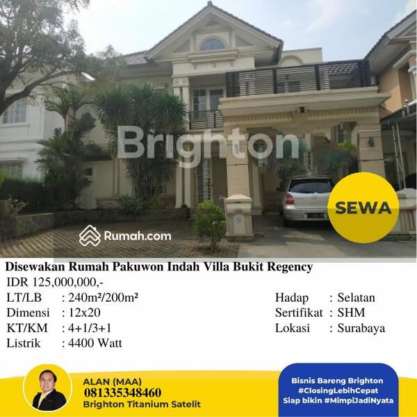 Disewakan Rumah Pakuwon Indah Villa Bukit Regency #105548231