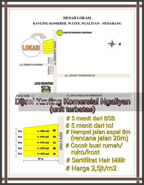 Tanah ngaliyan cocok buat usaha / investasi #105654619