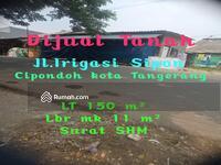 Dijual - Tanah 150 m² Jl Irigasi Sipon Cipondoh kota Tangerang