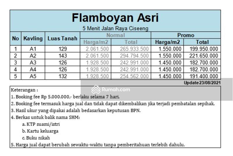 5 Menit Jalan Raya Ciseeng, Include Fasum, Kapling Tanah Murah Dijual Ciseeng Bogor #108743453
