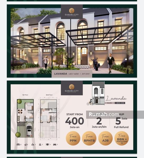 GANARA CITY RESIDENCE - 200 JUTAAN - CUKUP BAYAR 5 JUTA AJA DULU #106287429
