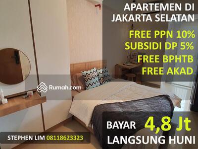 Dijual - Bayar 4, 8 Jt Langsung Huni Cicilan 3 Jutaan Apartemen di Jakarta Selatan Bintaro Parkview