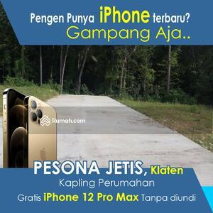 Dijual - Miliki Kavling Gratis Iphone 12 Pro Max, Dekat Pintu Tol Manisrenggo