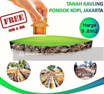 Dijual - Kavling Siap Bangun SHM Daerah Pondok Kopi Duren Sawit Dekat Terminal Cakung Jakarta Timur