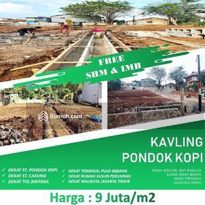 Dijual - Kavling Murah Pondok Kopi SHM Strategis, Aman, Bebas Banjir
