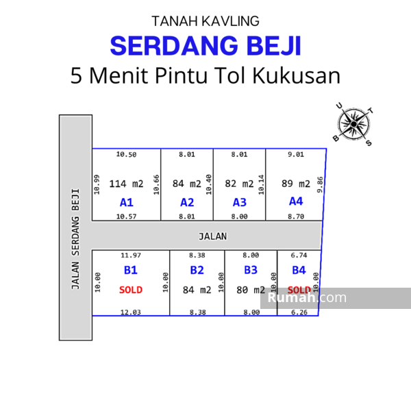 Kavling Area Pusat Kota Depok #108889827