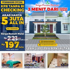 Dijual - Rumah Siap Huni : 3 Menit Dari St Tenjo KPR Bebas BI Cheking