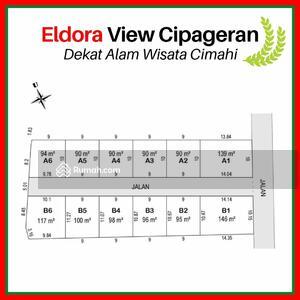 Dijual - Tanah Kavling View Kota Cimahi; Area Cipageran,  Sertifikat SHM