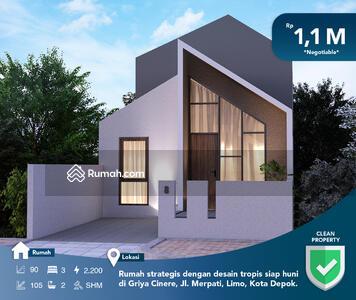 Dijual - Rumah strategis dengan desain tropis siap huni