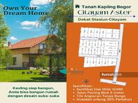 Dijual - 15 Menit Stasiun Citayam, Angsur 12X No Bunga, Dijual Tanah SHM Dijual Citayam Depok