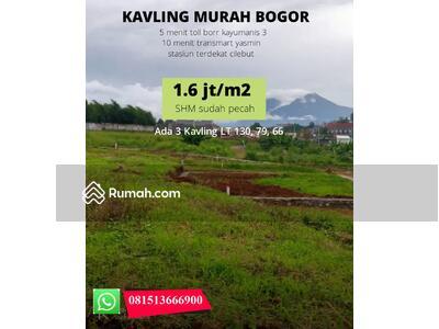 Dijual - Termurah Kota Bogor tanah Kavling Siap bangun dekat Tol Lingkar Surat SHM