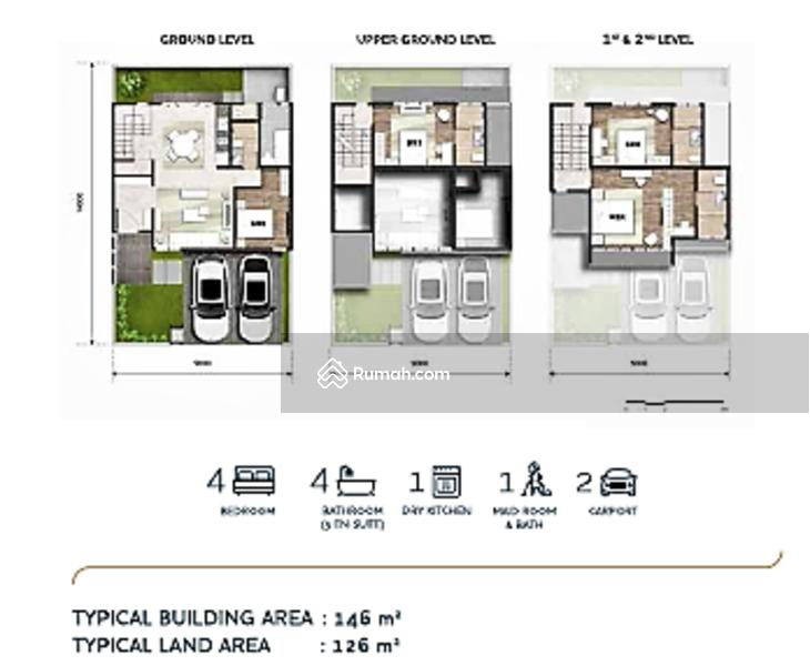 Rumah brand new 2,5 lantai 9x14 126m type 4KT Cluster Semayang Asya JGC Jakarta garden city #107854369
