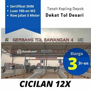 Dijual - Dekat Jalan Raya Meruyung: Tanah SHM Limo Luas 100-an M2, Cicilan 12 X