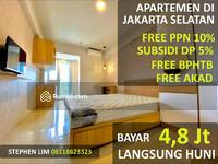 Dijual - Bayar 4, 8 Juta Langsung Dapat Apartemen Full Furnish Di Bintaro Jakarta Selatan