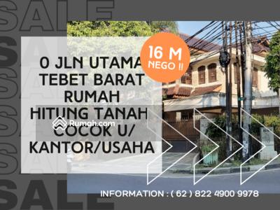Dijual - Pinggir Jalan Tebet Hitung Tanah ! ! Cocok Untuk Usaha