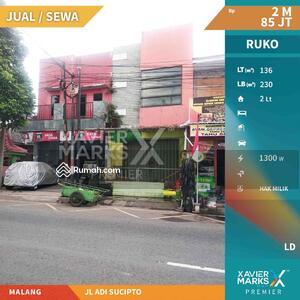 Disewa - Dijual/disewakan Ruko Berpotensi Tinggi  di jln Adi sucipto Malang