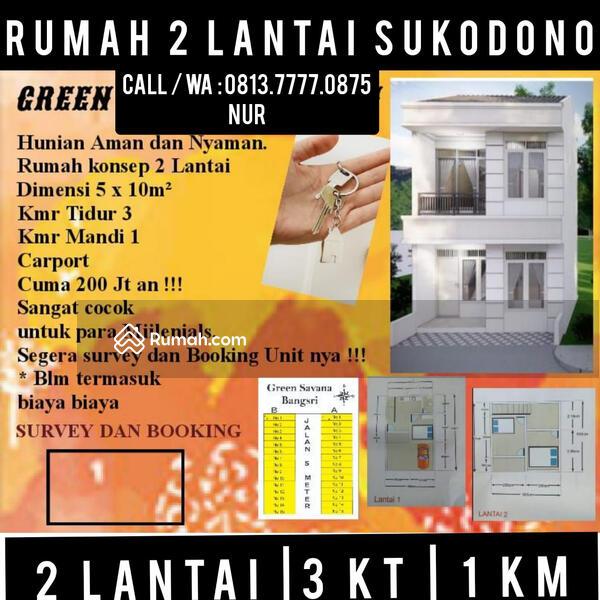 Rumah Murah Bangsri Sukodono sidoarjo dekat surabaya 2 lantai harga 200 300 jutaan #108955915