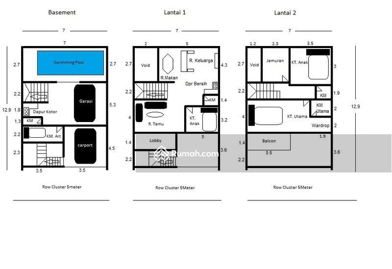 Rumah Mediterania Private Pool 3Lantai Indent Dalam Cluster Jl. Raya M Kahfi 1 One Gate System #109061127