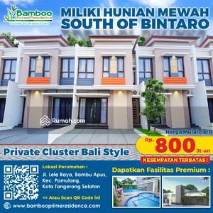 Dijual - Design Private Bali Cluster Lengkap Club House & Swimming Pool