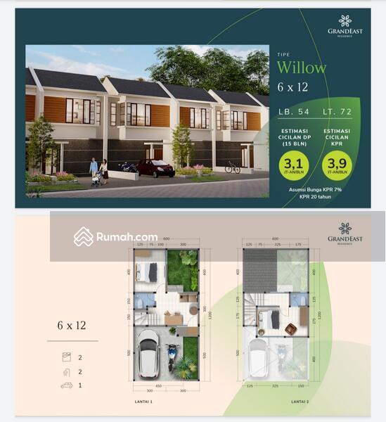 Rumah 2lt 500 jutaan #109154781