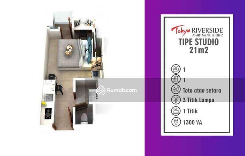 Harga di bawah market apartemen Tokyo PIK 2 Type Studio 21m #109173929