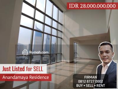 Dijual - Dijual Murah 4 Bedrooms 4 BR Apartemen Anandamaya 363 sqm Unfurnished , Sudirman, Jakarta Pusat