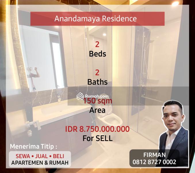 Dijual Murah 2 Bedrooms 2 BR Furnished Luas 150 sqm Apartemen Anandamaya, Sudirman, Jakarta Pusat #109186287