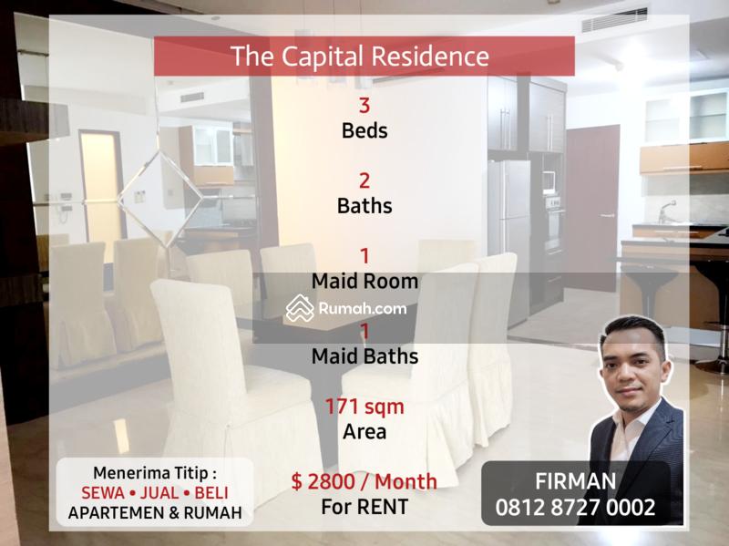 Disewakan Murah 3 Bedroom 3 BR Full Furnished Luas 171 sqm Apartemen Capital Senayan Jakarta Selatan #109191423