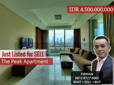 Dijual - Dijual Murah 3 Bedrooms 3 BR Furnished Luas 159 sqm Apartemen The Peak, Setiabudi, Jakarta Selatan