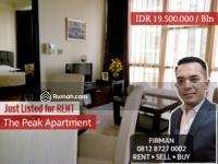 Disewa - Disewakan Murah 2 Bedrooms 2 BR Full Furnished Luas 84 sqm Apartemen The Peak, Setiabudi