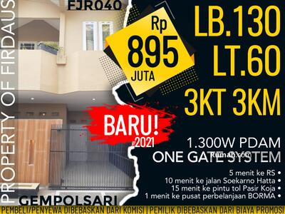 Dijual - RENOV TOTAL ‼️Rumah Gempolsari Cijerah Bandung FJR040 Gempol Sari Pasir Koja Pasirkoja Melong