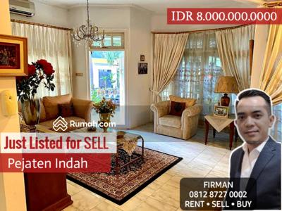 Dijual - Dijual Murah harga Covid Rumah Mewah Furnish Pejaten Indah, Jakarta Selatan