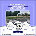 Tanah Dijual Area Kampus UII Sleman Tanpa DP dan Angsuran 15 Tahun