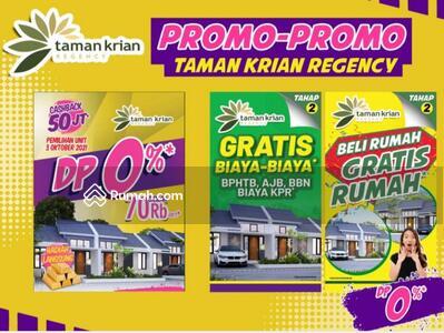 Dijual - Rumah murah krian DP 0% Free semua biaya Realisasi +Bonus Emas