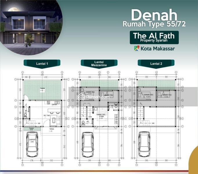 Rumah Syariah Toddopuli Kota Makassar 2 Lantai #109408981