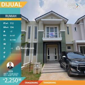 Dijual - Rumah 2 Lantai Luas112 di Ayodhya 4 Bedroom 2, 25 Milyar Tangerang