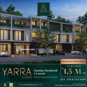 Dijual - YARRA CLUSTER @ ANWA RESIDENCE PURI, SMART HOME READY, HARGA PERDANA 1, 5 M-AN, FASILITAS LENGKAP