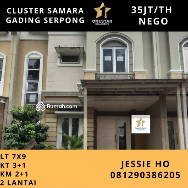 Disewakan Cepat Rumah Cluster Samara Gading Serpong hadap taman #109523859