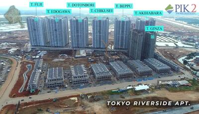 Dijual - APARTEMEN PIK 2 TOKYO RIVERSIDE STUDIO 21m2 275 JUTA JUAL MURAH