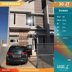 Disewa - DISEWAKAN Rumah Minimalis Nyaman PERUMAHAN ARUMBA, Tunggulwulung, Malang 30JT Nego