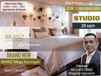 Dijual - Dijual Brand New 1 Bedroom STUDIO 1 BR Apartemen BRANZ Mega Kuningan, Kuningan, Jakarta Selatan