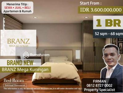 Dijual - Dijual Brand New 1 Bedroom 1 BR Apartemen Branz Mega Kuningan, Kuningan, Jakarta Selatan