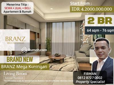 Dijual - Dijual Brand New 2 Bedroom 2 BR Apartemen BRANZ Mega Kuningan, Kuningan, Jakarta Selatan