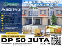 Dijual - Hunian Bali Tropis di Selatan Bintaro Fasilitas : Swimingpool & Clubhouse!