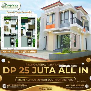 Dijual - Hunian Mewah di Selatan Bintaro Fasilitas Premium : DP 25 Juta All In